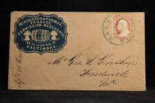 Maryland: Baltimore 1855 #11 McPherson & Thomas Illustrated Cameo Ad Cover