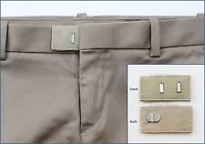 Cream Hook & Bar Waist Extender Closure Pants Shorts Trouser Line Widen Expander