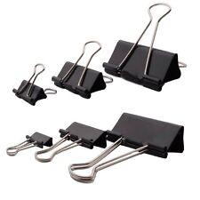 12-60x Büroklammer Heftklammer Binder Clips Dokumenten Clip Papier Klammer Metal