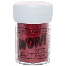 American Crafts Glitter, Extra Fine Crimson - 4-Pack