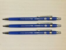 3 VINTAGE LYRA 2mm MECHANICAL PENCILS: ORLOW-TECHNO 102 - GERMANY, NOS, UNUSED