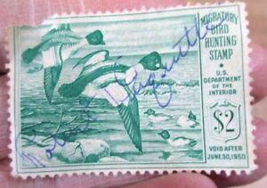 1949 Federal Migratory Bird Duck Hunting Stamp U S Department of Interior  >