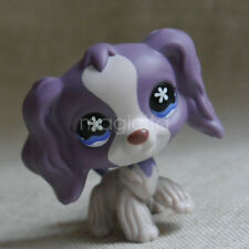 Littlest Pet Shop LPS Toys Flowers Eyes Girl Gift Cocker Spaniel Dog puppy #672