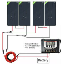 ECO 12V/24V 100W 200W 400W Flexible Solar Panel Kit  RV Marine Battery Charge