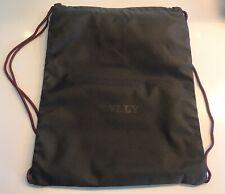 Bally Black Light Medium Nylon Drawstring Gym Bag