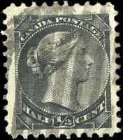 Canada Used 1882 1/2c F-VF Scott #34 Small Queen Stamp