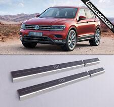VW Tiguan Mk2 TDi Acier Inoxydable Sill Protections/coup De Pied Plaques