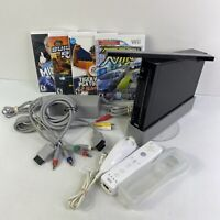 Nintendo Wii Game System Console Bundle w/ Controller, 4 Games +Extras! - TESTED