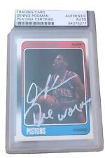Autographed Dennis Rodman 1988 Fleer Rookie Card Insc Worm PSA Certified Signed