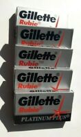 Original Double-Sided Blades Gillette Rubie Platinum Plus 100 pcs