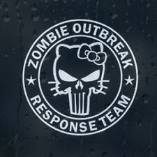 Zombie outbreak response team hello kitty voiture téléphone portable autocollant vinyle autocollant