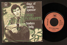 """7"""" DAVID McWILLIAMS DAYS OF PEARLY SPENCER / HARLEM LADY ITALY 1968 CASELLI"""