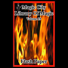Flash Paper & Cotton How to Use Close Up Magic Fire Tricks Trick Stunts Book