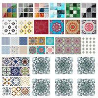 1/6/19/20pcs/Set PVC Waterproof Tile Wall Sticker Kitchen Bedroom Tiles Decals