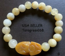 Feng Shui  Jade Stone Pi Xiu Pi Yao Bracelet Fortune Money Handmade