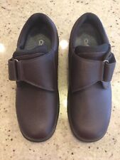 Orthofeet Broadway 520 Orthopedic Brown Leather Strap Loafer Shoes Men 12 D