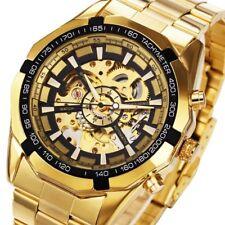 watch mechanical automatic winner wrist skeleton men stainless steel s new sport