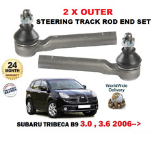 FOR SUBARU TRIBECA 1/2005-> 3.0i B9 2 X NEW FRONT OUTER TIE TRACK ROD ENDS