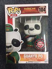 Funko Pop Asia Kung Fu Panda Guanyu Po #104 Mint Condition New