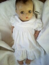 """Vintage Composition Madame Alexander """"Pinkie"""" Baby Doll Sleeping ,shifting eyes"""