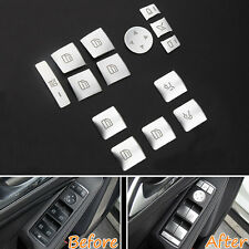 14x Door Window Switch Button Cover Trim For Benz GLACLA GLK GL ML GLE 2013-2015