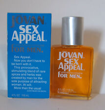 Vintage Jovan Sex Appeal For Men  Aftershave Cologne Splash 4oz by Coty