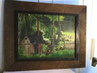 """19/20th century painting oil on canvas artist Alice Chew Bron 1877. Framed 22"""""""