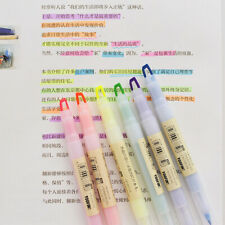6x/set Crystal Double head Highlighters Candy color 6 colors Drawing Marker,