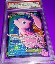 Pokemon Mew Ex Full Art Holo Shiny Radiant Collection PSA 9 last one