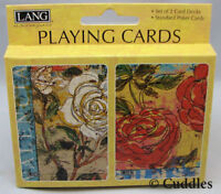 Valencia Playing Cards Flowers Roses Standard Poker2 Decks Card Lang Game NEW