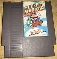SUPER MARIO BROS. 2 Nintendo NES Game SHOWN Working! FIRST PRINT Game Cart 1988
