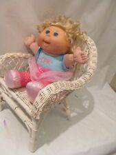 "12"" Seated JAKKS Blond Cloth and Vinyl Cabbage Patch Girl Doll"