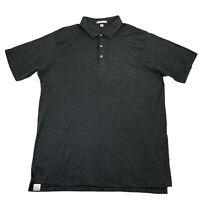 Peter Millar Golf Polo Shirt Short Sleeve Soft Cotton Black Green Mens Size 2XL