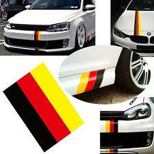 "iJDMTOY (1) 10"" Germany Flag Color Stripe Decal Sticker For Euro Car Audi BMW..."