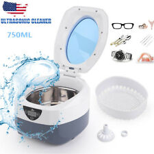 750ml Ultrasonic Jewelry Cleaner Dental Glasses Coin Silver Sonic Cleaner Bath