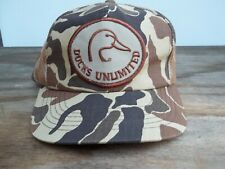 Un-Used Vintage Ducks Unlimited Cap Hat Old Style Camo Mesh Back FREE SHIP