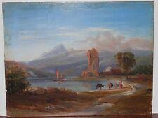 OLD ANTIQUE Fine Art OIL PAINTING original 19th Century Artwork Italian European