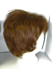 Vintage 100% Human Hair Wig made in France for Lorenzo Lorenzetti Brunette Wavy