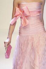 ICONIC ROMANTIC UNIQUE GORGE 2DIE4 Oscar DE LA RENTA strapless ruffle pink Dress
