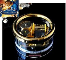 Gorgerous Circle in Gold Wind Up Music Box : BEAUTY AND THE BEAST THEME SONG