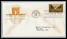 US FDC  # 934  3c Army  Farnham addressed, 9a450