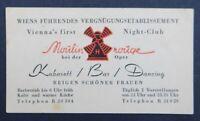 Carte de visite MOULIN ROUGE Vienne Wien Kabarett Bar Dancing