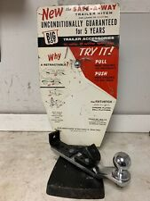 RARE BIG BOY SAFE-A-WAY TRAILER HITCH ACCESSORY DEALER COUNTER DISPLAY ANTIQUE
