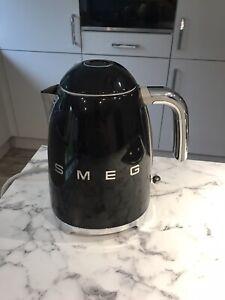 Smeg Black 50's Retro Kettle - Good Condition