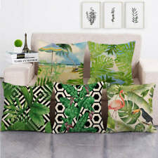 """18"""" Jungle Palm Leaves Decorative Throw Pillow Cover Case Outdoor Square Cushion"""