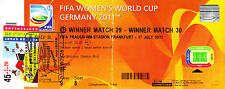 Le Japon fifa world champion 2011-Original Final ticket with stamp & POSTMARK