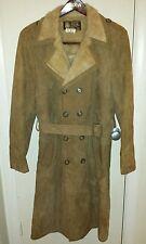 Vintage Women's Cosa Nova Shearling Suede Leather Vest Jacket Coat