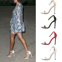 2016 Women Ladies Platform Pump Open Toe Stiletto High Slim Heels Shoes Sandals