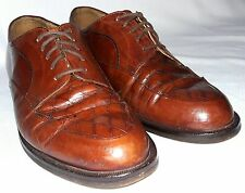 Cable & Co. Brown Woven Leather Oxford Shoes Mens 7.5 .D Made in Italy. Classy