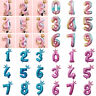 Number Foil 0-9 Balloons 32 inch Digit Helium Ballons Birthday Party DIY Decor